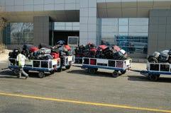 Bagage de transport aérien Photos libres de droits