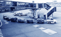 Bagage de transport aérien Images libres de droits