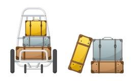 Bagage de vecteur de retrait des bagages Images stock