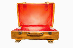 Bagage de vintage ouvert Photo stock