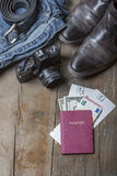 Bagage de voyage de vintage Photographie stock libre de droits