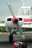 Bagage et l'avion privé Image stock