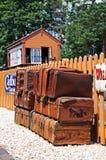 Bagage op spoorwegplatform, Arley Stock Fotografie