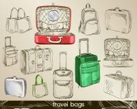 bagage skissar Royaltyfri Foto
