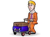 bagagehandelsresande royaltyfri illustrationer