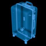 Bagagem do raio x isolada no preto Imagem de Stock