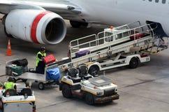 Bagagem do transporte aéreo Imagens de Stock