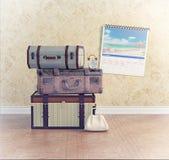 Bagagem do vintage Imagem de Stock