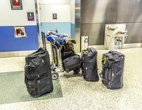Bagages à l'aéroport international de Miami Photos libres de droits