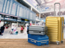 Bagages durs de cas Photo libre de droits