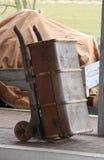 Bagagespårvagn. Arkivbild