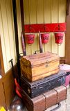 bagagestation Arkivfoto