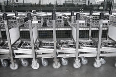 bagagetrolley Royaltyfri Foto