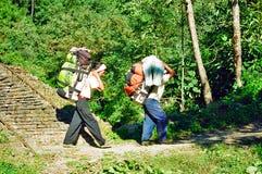 Bagagistes du Népal Image libre de droits