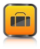 Bagagli arancioni dell'icona Fotografia Stock