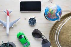 Bagagli dei passaporti dei costumi degli accessori di viaggio Immagine Stock