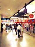 Bagagli di linea aerea dell'aeroporto di viaggio di viaggio Fotografie Stock Libere da Diritti