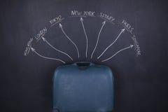 Bagagli di viaggio Immagini Stock