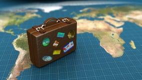 Bagagli di viaggio Fotografie Stock