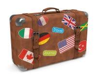 Bagagli di viaggio su bianco Fotografia Stock