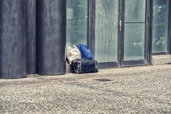 Bagaglio perso sull'aeroporto Fotografia Stock Libera da Diritti