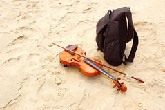 Bagaje del músico Imagen de archivo libre de regalías
