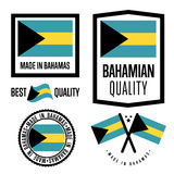 Bagamas quality label set for goods Royalty Free Stock Photo