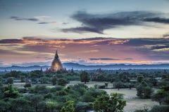 Bagan佛教寺庙在缅甸的, 免版税库存图片