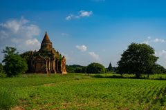 Bagan历史塔 免版税库存图片