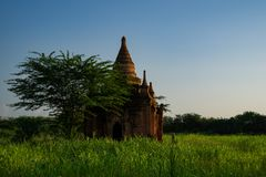 Bagan历史塔 库存图片