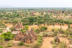 Bagan古老佛教寺庙复合体在缅甸的 库存照片