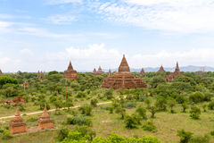 Bagan古老佛教寺庙复合体在缅甸的 免版税库存图片