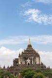 Bagan古老佛教寺庙复合体在缅甸的 免版税库存照片
