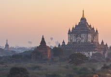 Bagan塔,缅甸 免版税库存照片