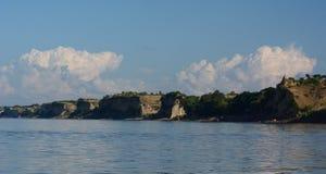 Bagan的Irrawaddy银行 缅甸 库存图片