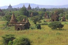 bagan缅甸全景 免版税库存图片