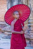 bagan缅甸的新手修士 免版税库存图片