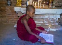 bagan缅甸的新手修士 免版税库存照片