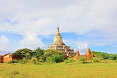 Bagan考古学区域全景,缅甸 免版税库存图片