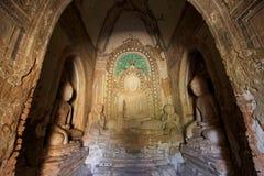 Bagan考古学区域菩萨图象,缅甸 免版税库存照片