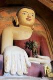 Bagan考古学区域菩萨图象,缅甸 库存图片