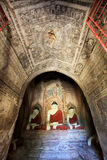 Bagan考古学区域菩萨图象,缅甸 免版税库存图片
