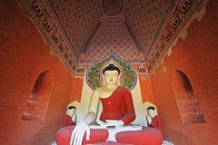 Bagan考古学区域` s菩萨雕象,缅甸 库存图片