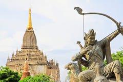 Bagan考古学博物馆阿切尔雕象,缅甸 免版税库存照片