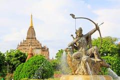 Bagan考古学博物馆阿切尔雕象,缅甸 免版税图库摄影