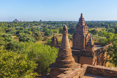 Bagan菩萨塔天 免版税库存图片