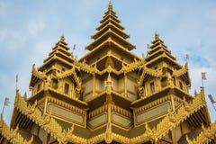 Bagan金黄宫殿,缅甸 图库摄影