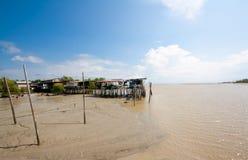 bagan钓鱼的瓜拉pasir selangor村庄 库存照片