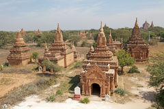 Bagan,缅甸废墟  免版税库存照片