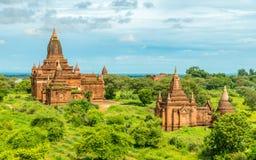 Bagan świątynie, Myanmar Fotografia Stock